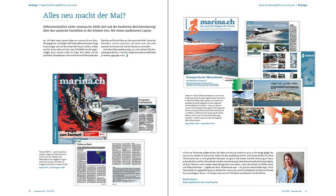 Neues Layout für «marina.ch»